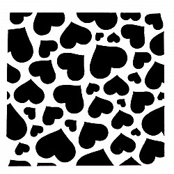 Stencil - Hearts Overload (5 by 5 inch)
