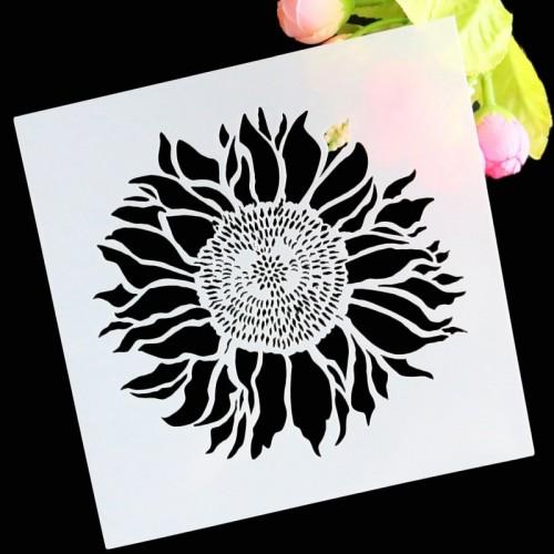 Stencil - Sunflower (5 by 5 inch)