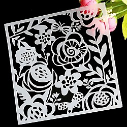 Stencil - Doodled Flowers (5 by 5 inch)