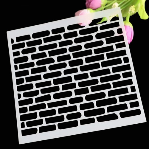 Stencil - Bricks (5 by 5 inch)