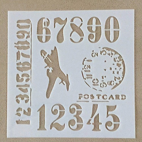 Stencil - Numbered (5 by 5 inch)