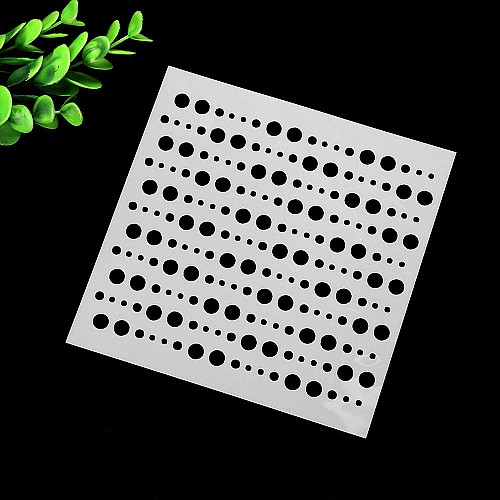 Stencil - Dots Rows (5 by 5 inch)
