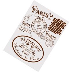 Stencil - Vintage Paris (A4 size)