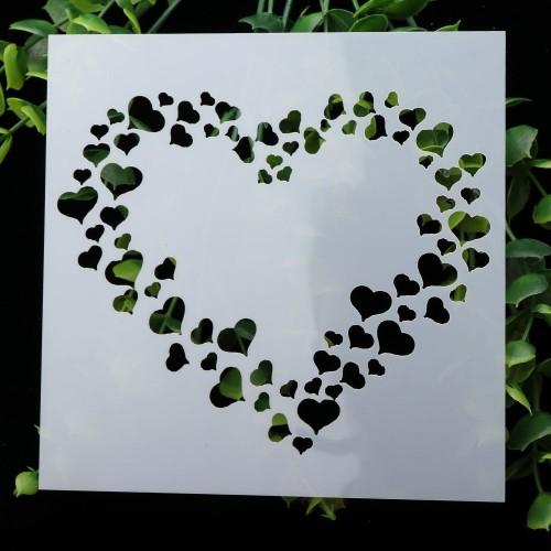 Stencil - Heart (5 by 5 inch)