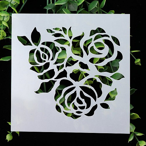 Stencil - Roses (5 by 5 inch)