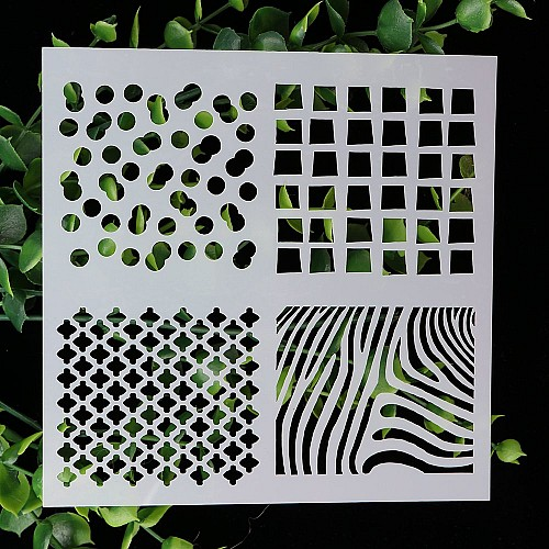 Stencil - Various Grids (5 by 5 inch)