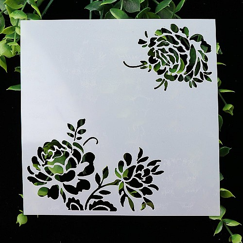 Stencil - Floral Corners (5 by 5 inch)