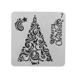 Stencil - Christmas Tree 1 (5 by 5 inch)
