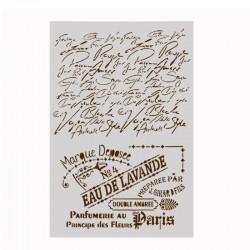 Stencil - Vintage Script (A4 size)