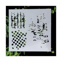 Stencil - Grunge Designs (5 by 5 inch)