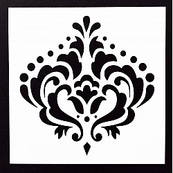 Stencil - Large Damask (5 by 5 inch)