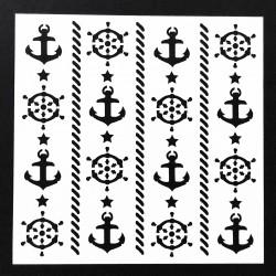 Stencil - Navy (5 by 5 inch)