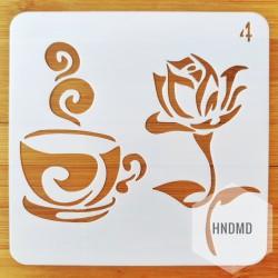 Stencil - Coffee (5 by 5 inch)