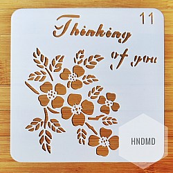 Stencil - Thinking of You (5 by 5 inch)