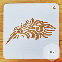 Stencil - Feather (5 by 5 inch)