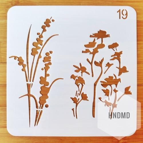 Stencil - Florals (5 by 5 inch)