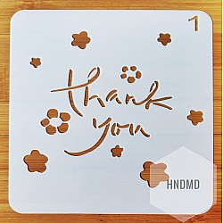 Stencil - Thank You (5 by 5 inch)