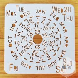 Stencil - Calendar (5 by 5 inch)