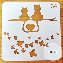 Stencil - Cute Cats (5 by 5 inch)