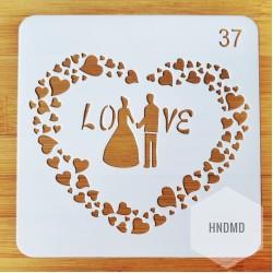 Stencil - Love (5 by 5 inch)