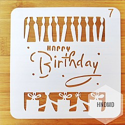 Stencil - Birthday Candles (5 by 5 inch)