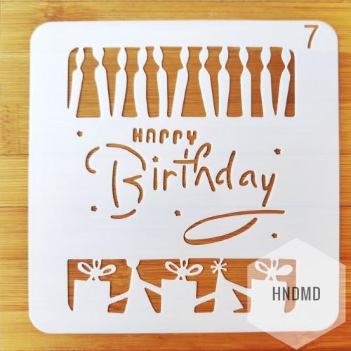 Stencil - Birthday Candles (5 by 5 inch)