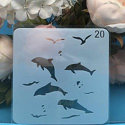 Stencil - Dolphins (5 by 5 inch)