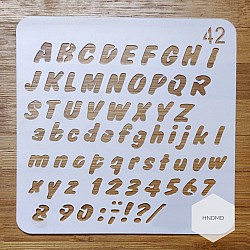 Stencil - Alphabets and Numbers (5 by 5 inch)