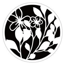 Circular Stencil - Floral Vines