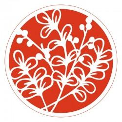 Circular Stencil - Leafy