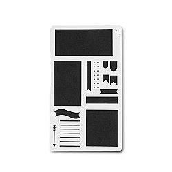 Planner Stencil - Notes (4 by 7 inch)