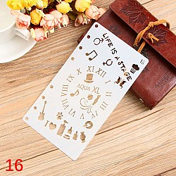 Planner Stencil - Doodled (4 by 7 inch)
