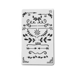 Planner Stencil - Swirls (4 by 7 inch)