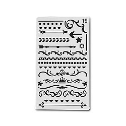 Planner Stencil - Swirls and Borders (4 by 7 inch)