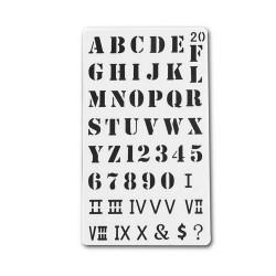 Planner Stencil - Alphabets (4 by 7 inch)