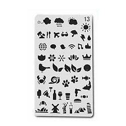 Planner Stencil - Various Icons (4 by 7 inch)