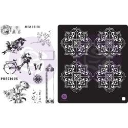 Prima Marketing Georgia Blues Cling Rubber Stamps & Stencil