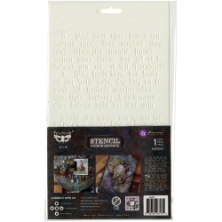 """Prima Marketing Finnabair Stencil 7""""X9"""" - Gothic"""