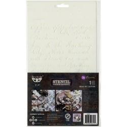 "Prima Marketing Finnabair Stencil 7""X9"" - Read my Letter"