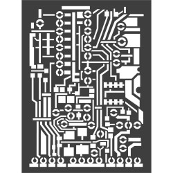 "Stamperia Stencil 5.90""X7.87"" - Circuit Board"
