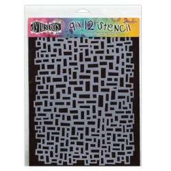 Dylusions 9 X 12 Stencil - Blocks Large