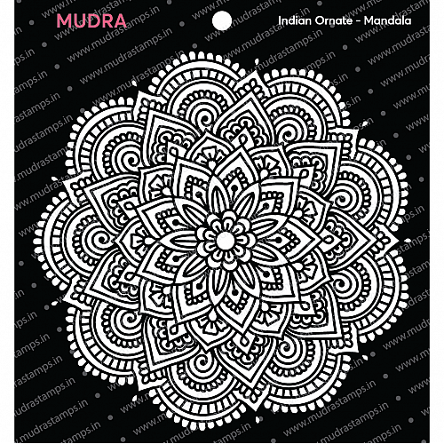 Mudra Stencils - Indian Ornate Mandala