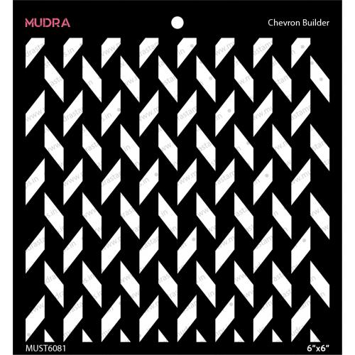Mudra Stencils - Chevron Builder