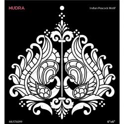 Mudra Stencils - Indina Peacock Motifs