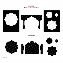 Mudra Stencils - Traditional shape and Mask