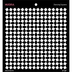 Mudra Stencils - Dancing Squares