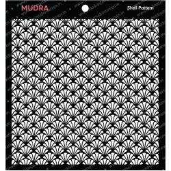 Mudra Stencils - Shell Pattern