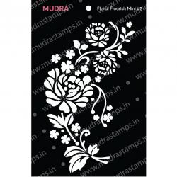 Mudra Stencils - Floral Flourish Mini 2