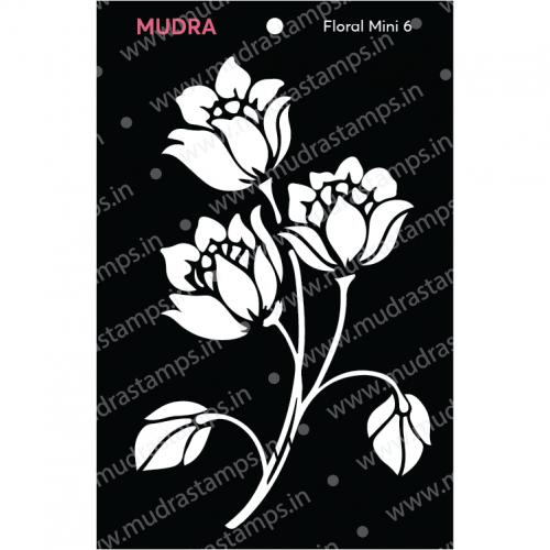 Mudra Stencils - Floral Flourish Mini 6