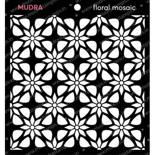 Mudra Stencils - Floral mosaic